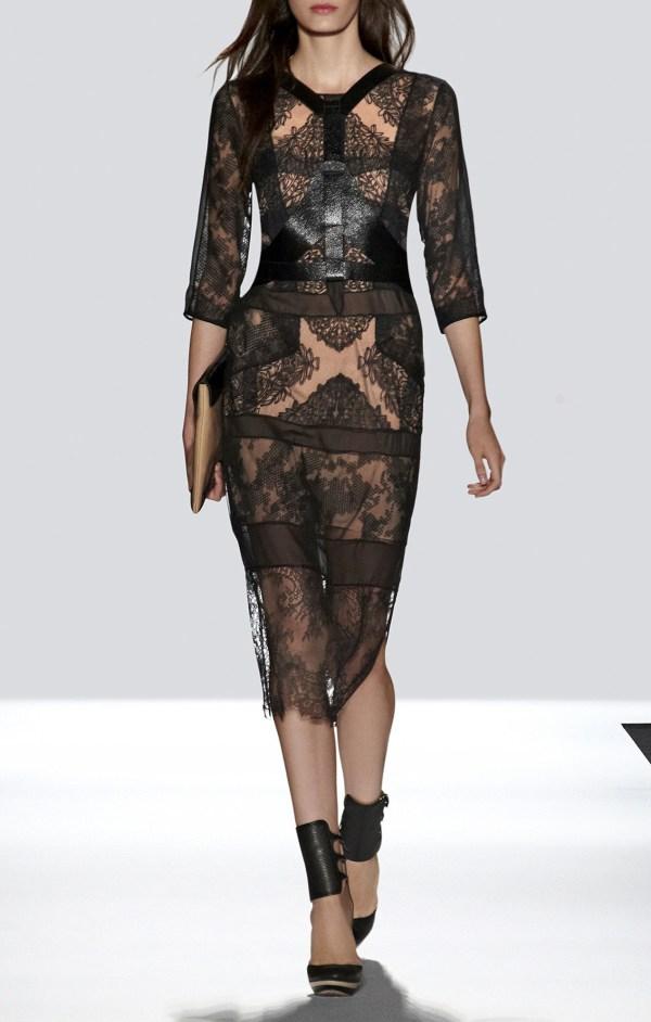 Lyst - Bcbgmaxazria Runway Katrina Dress In Black