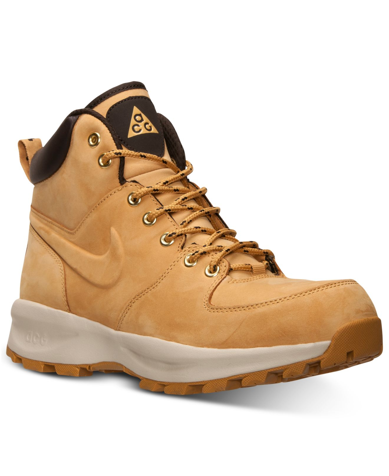 Nike Men39s Manoa Leather Boots From Finish Line In Natural