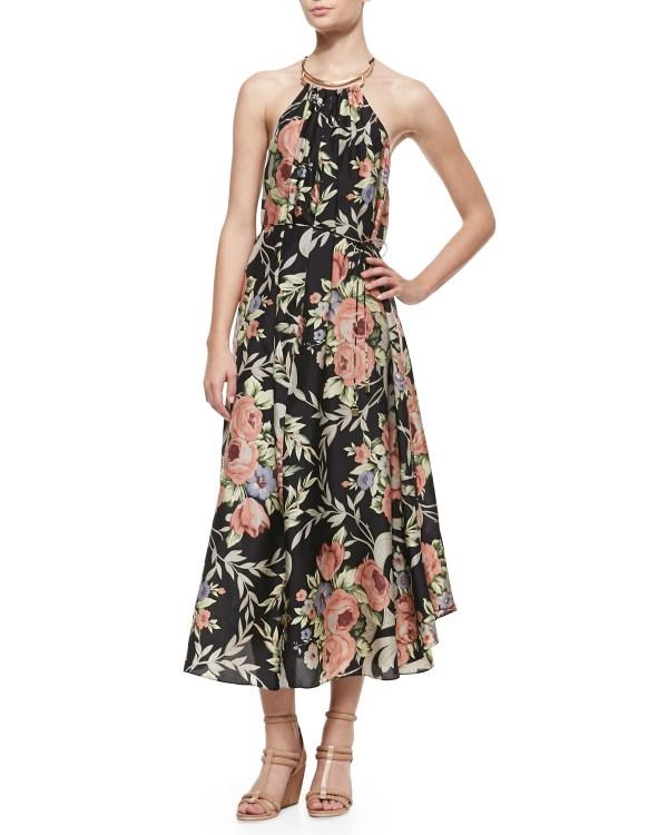 Zimmermann Keeper Scarfhem Maxi Coverup Dress In Black Desert Floral Lyst