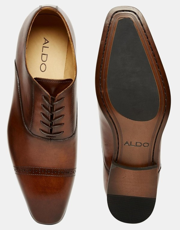 3a210901352 Lyst - Aldo Welidama Leather Shoes In Brown Men