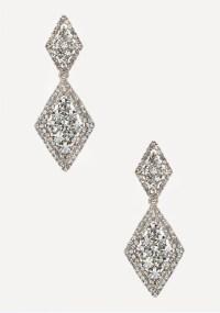 Lyst - Bebe Diamond Shaped Earrings in Metallic