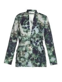 Raquel allegra Cosmos Tie-dye Linen Jacket in Green - Save ...