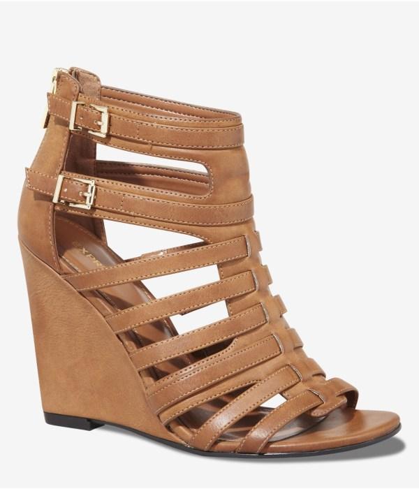 Lyst - Express Gladiator Vamp Wedge Sandal In Brown