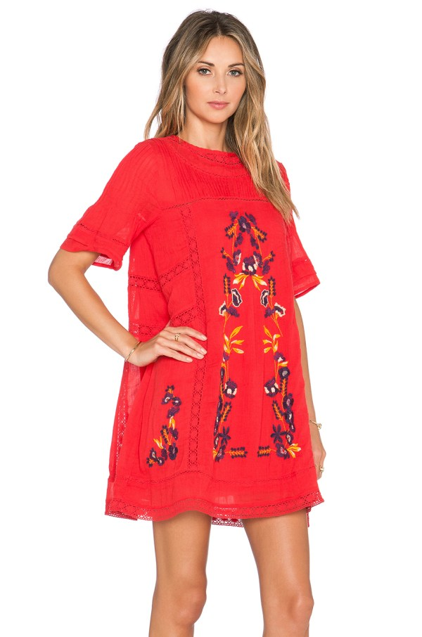 Free People Perfectly Victorian Dress In Red Lyst