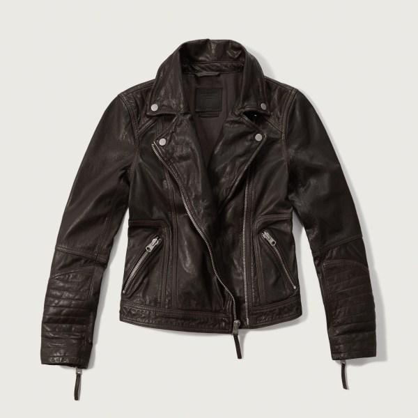 Lyst - Abercrombie & Fitch Genuine Leather Biker Jacket In