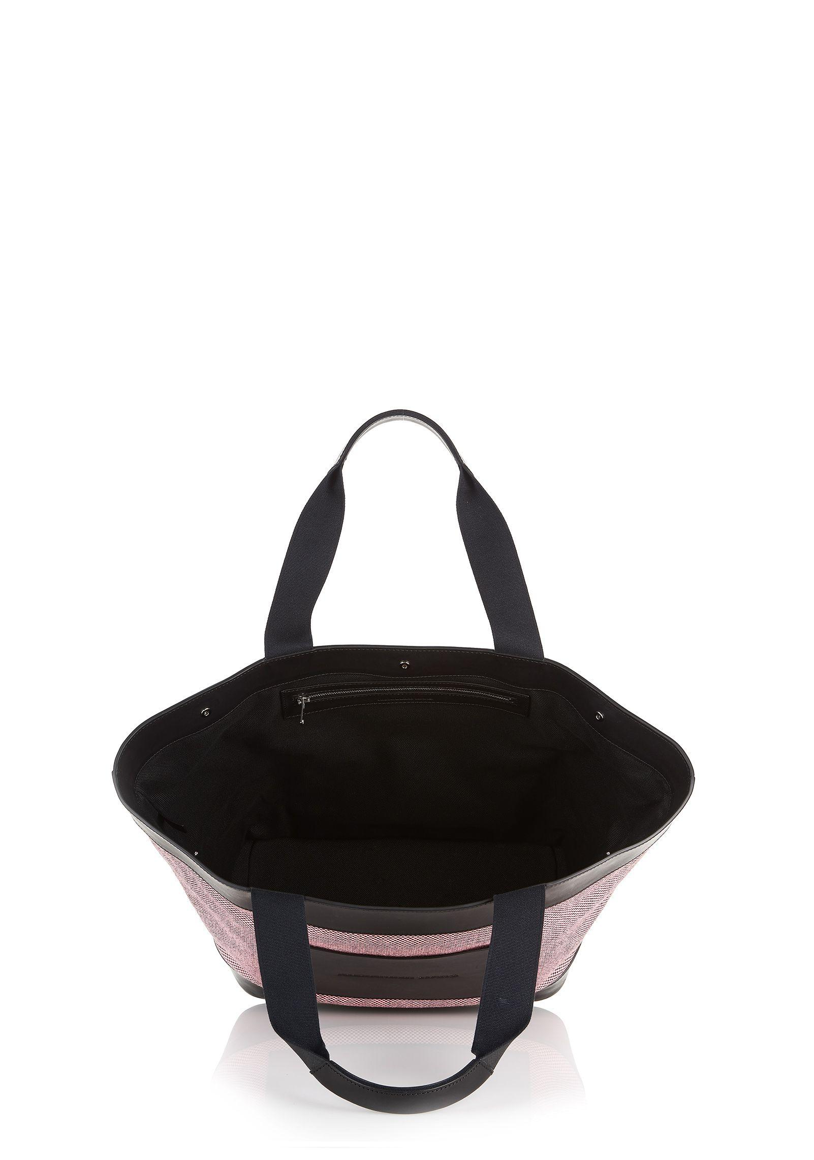 Alexander Wang Pink Black Canvas Tote In Pink Lyst