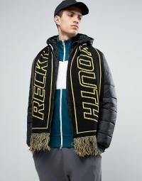 Asos Knitted Football Scarf With Reversible Slogan in ...