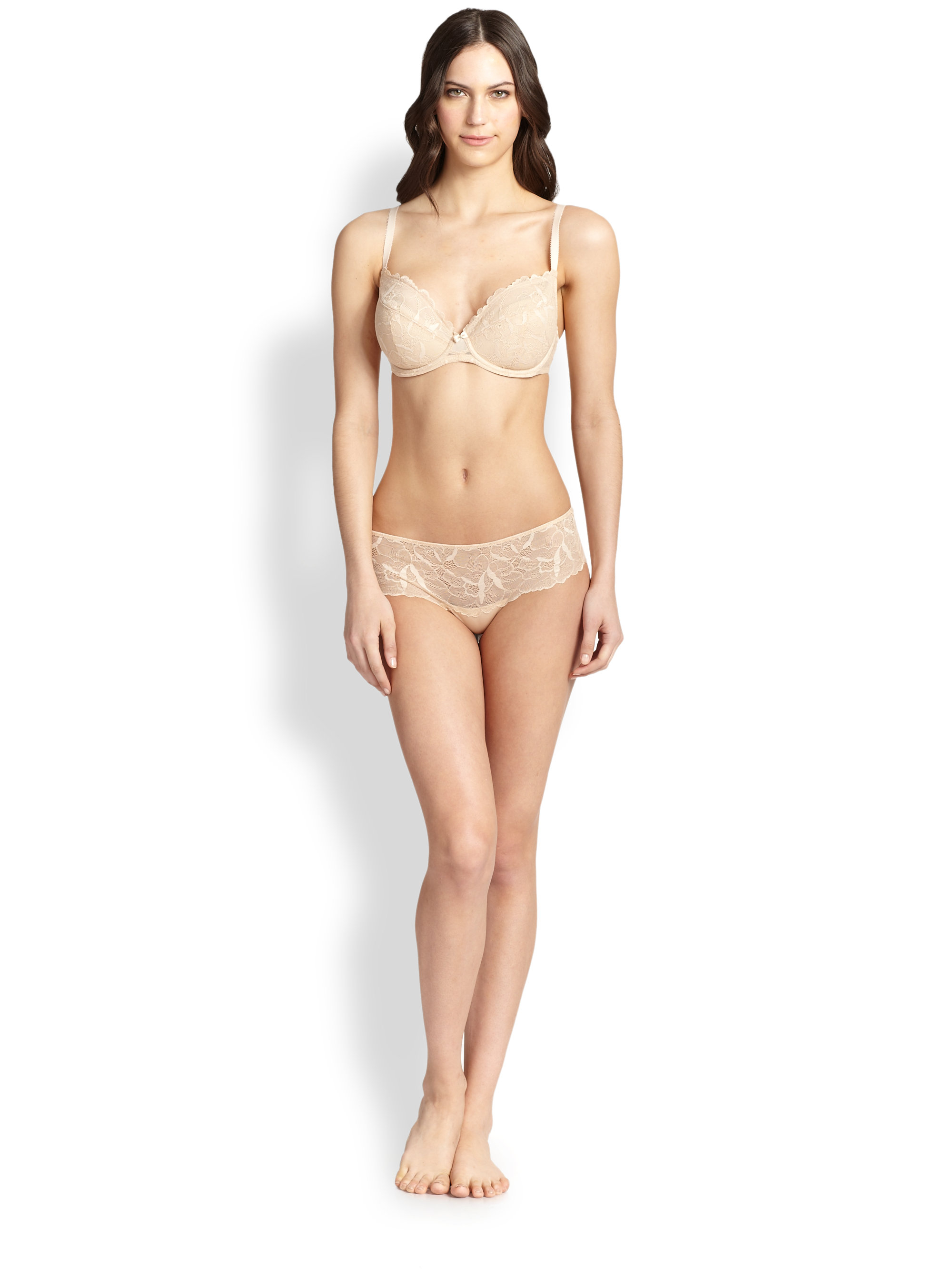 Le Mystere Lace Allure Underwire Bra In Pink Lyst