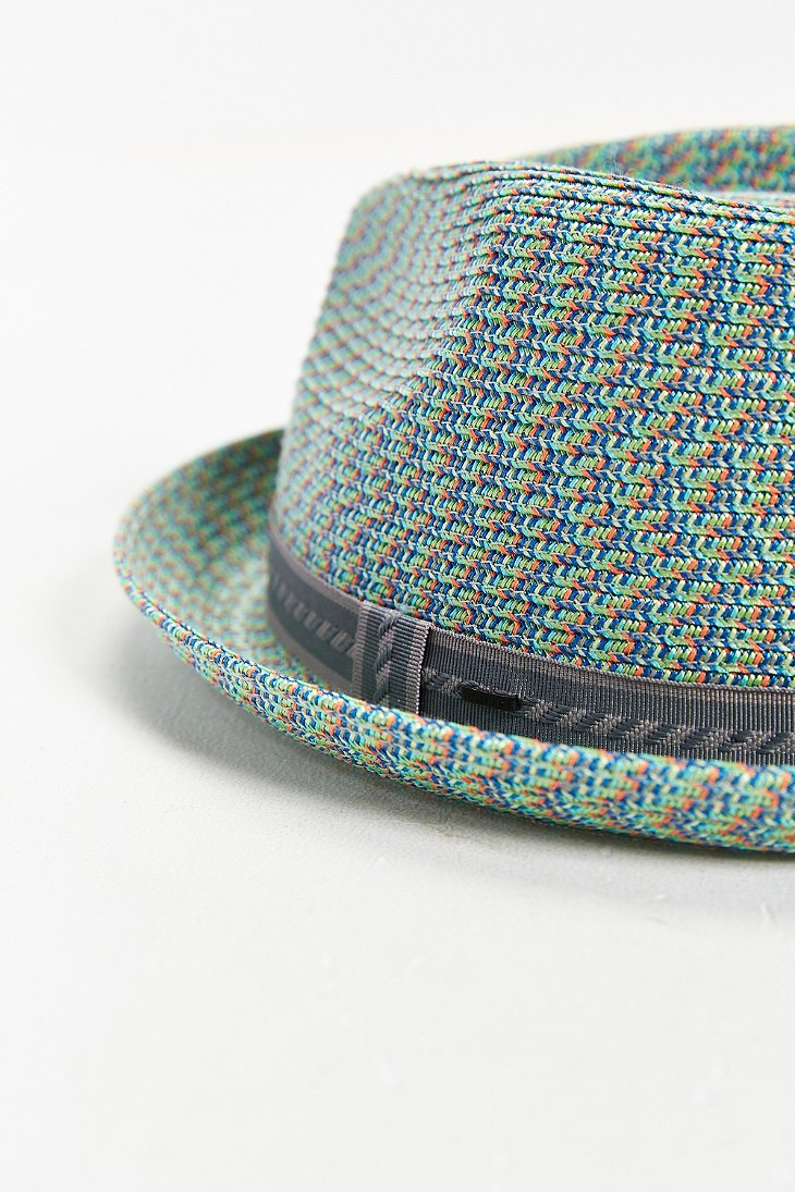 bailey of hollywood mannes mint straw fedora hat in green for men