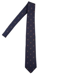 Alexander Mcqueen Skull Tie in Blue for Men (Blu) | Lyst
