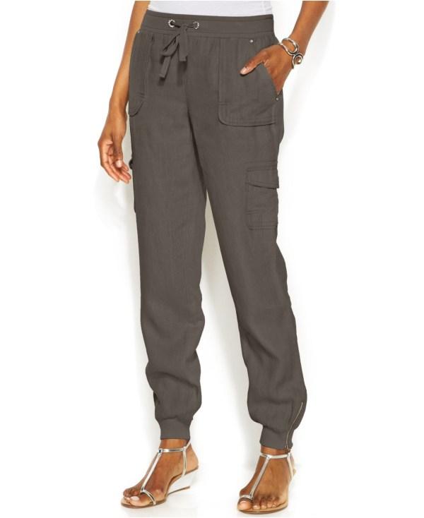International Concepts Petite Linen Drawstring-waist