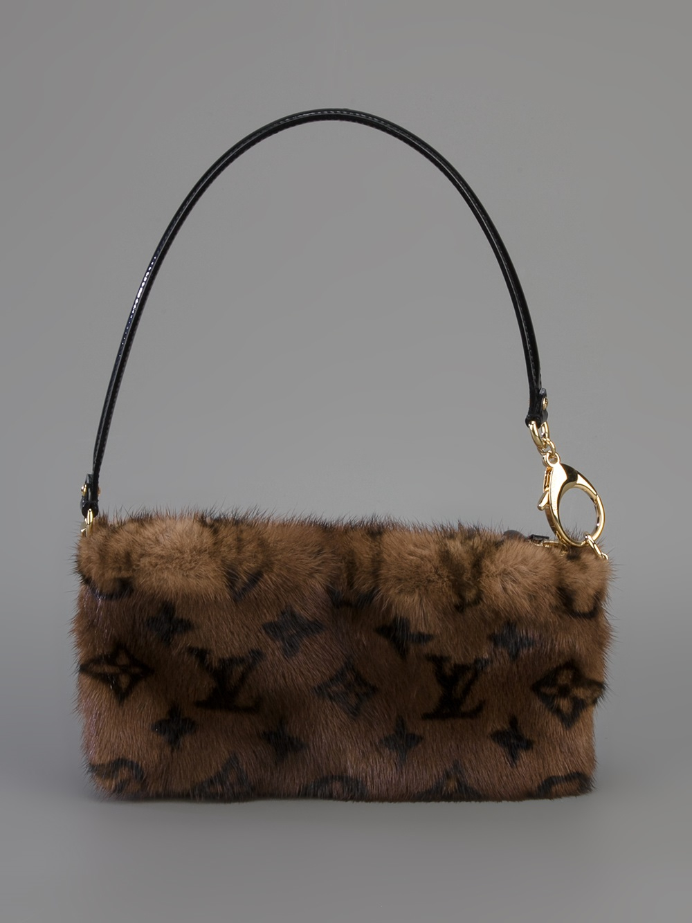 Louis vuitton Mink Fur Shoulder Bag in Brown  Lyst