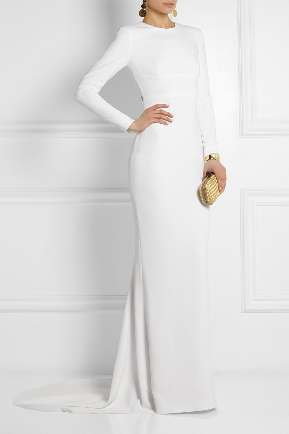 Stella mccartney Renee OpenBack Crepe Gown in White  Lyst