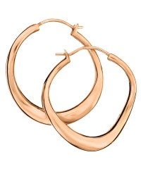 Lyst - Dinny hall Small Rose Gold-plated Wave Hoop ...