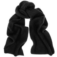 Lyst - Black.Co.Uk Black Rib Knit Cashmere Scarf in Black ...