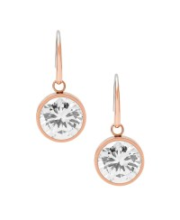 Michael kors Cubic Zirconia Drop Earrings in Silver (Rose ...