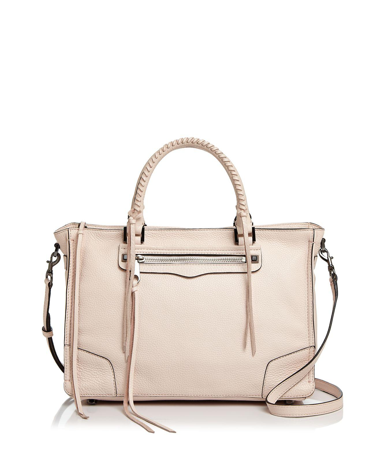 Rebecca Minkoff Regan Leather Satchel Lyst