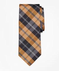 Brooks brothers Plaid Tie in Orange for Men | Lyst
