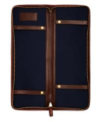 Lyst - Brooks brothers Leather Tie Case in Brown for Men