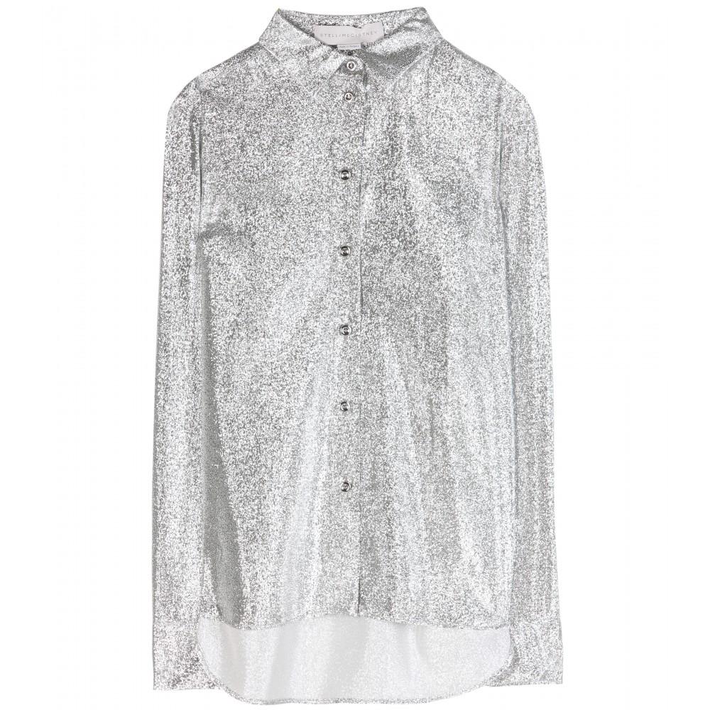 Lyst Stella Mccartney Wilson Wovenlam Shirt In Metallic