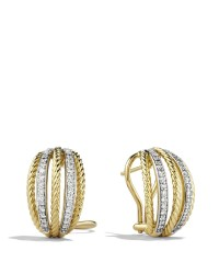 Lyst - David yurman Lantana Earrings With Diamonds In Gold ...