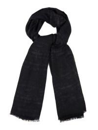 Fendi Crocodile-Woven Wool, Silk And Cashmere Scarf in ...