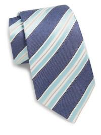 Saks fifth avenue Striped Silk Tie in Blue for Men   Lyst