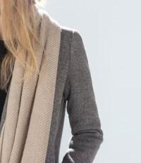 Zara Cashmere-Feel Scarf in Brown | Lyst