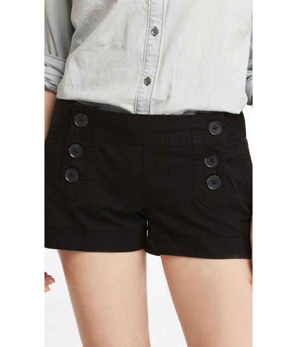 Lyst - Express 2 Stretch Cotton Sailor Shorts In Black