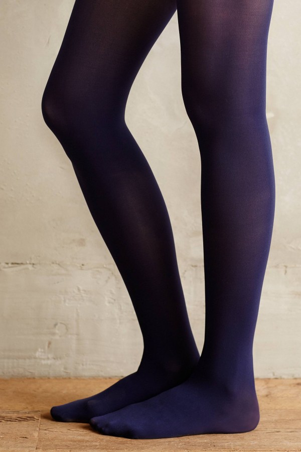 Lyst - Pure Good Opaque Tights In Blue