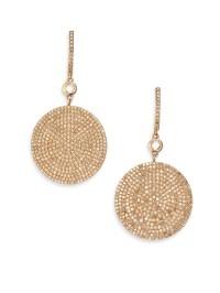 rose gold water drop earrings
