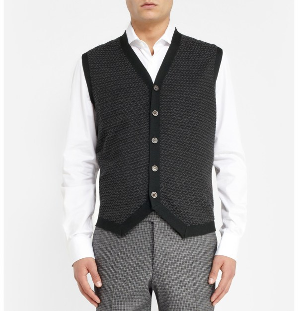Lyst - Dunhill Patterned Knitted Cashmere And Silk-blend