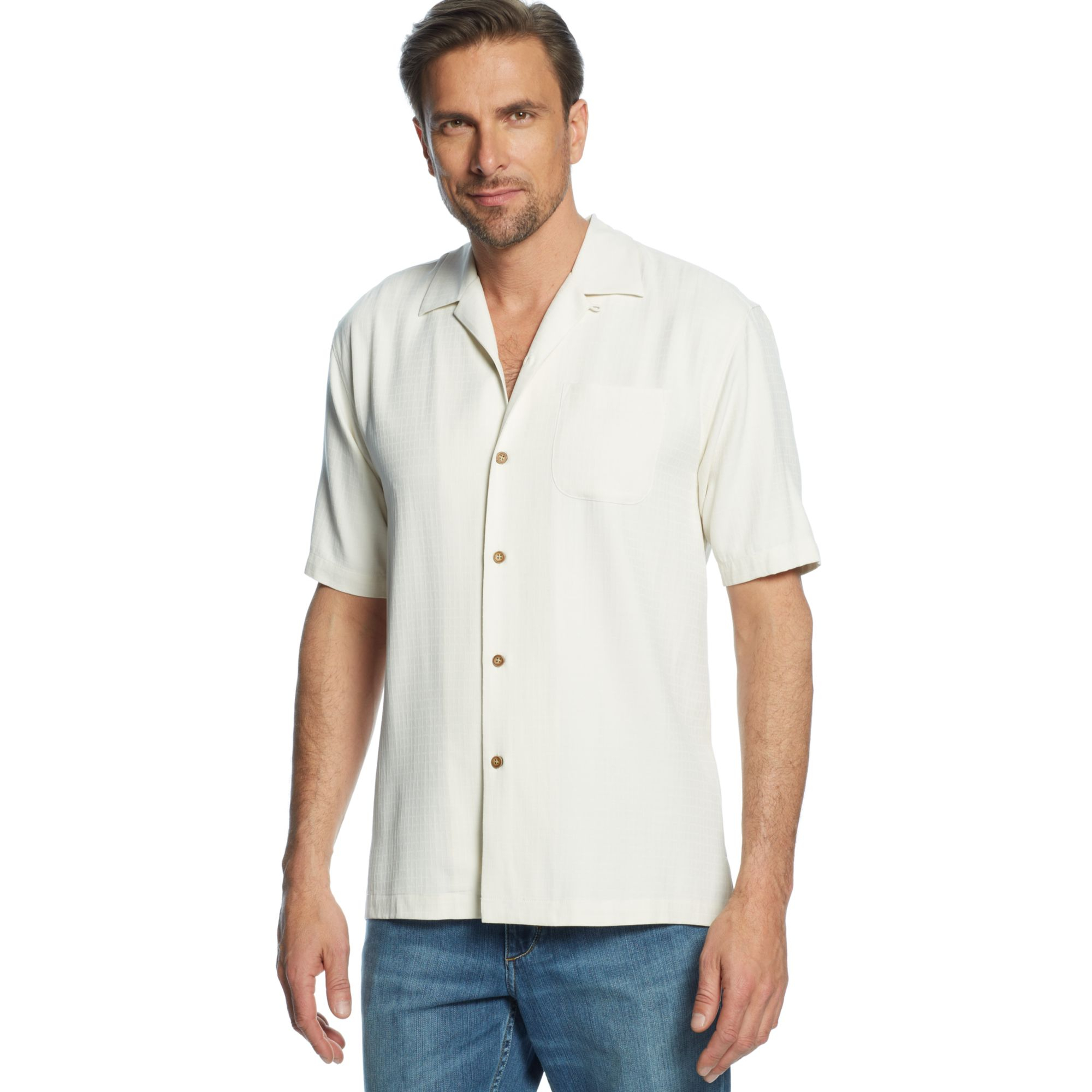 Tommy Bahama One Minute Workout Shirt in White for Men
