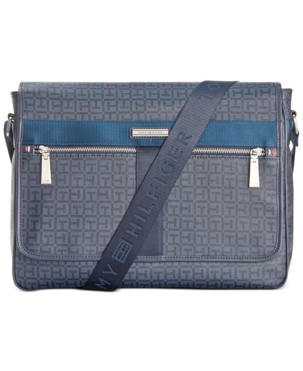 Tommy Hilfiger Darren Flap Messenger Bag In Blue Men