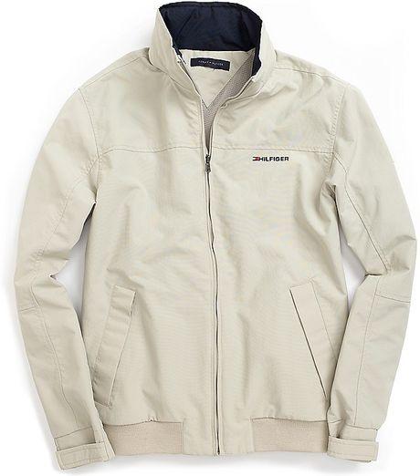 Tommy Hilfiger Beige Yacht Jacket For Men Lyst