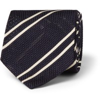 Dunhill Striped Mulberry Silk Tie in Blue for Men | Lyst