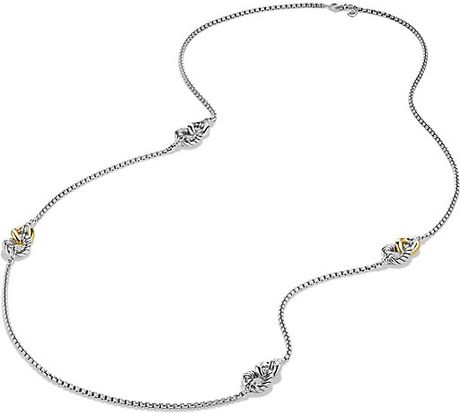 David Yurman Belmont Curb Link Necklace With 18k Gold in