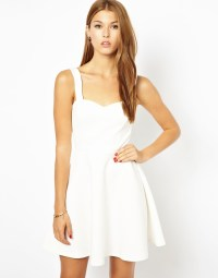 white sweetheart dress - Dress Yp