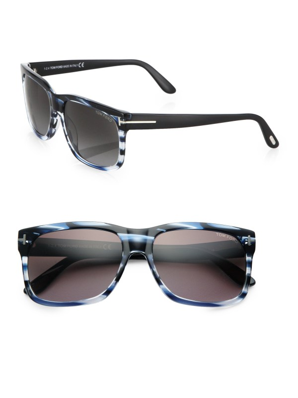 Tom Ford 58mm Square Sunglasses In Blue Lyst