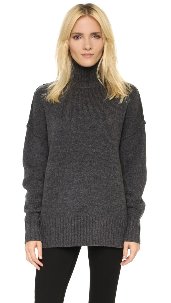 Lyst - Nlst Oversize Turtleneck Sweater In Gray
