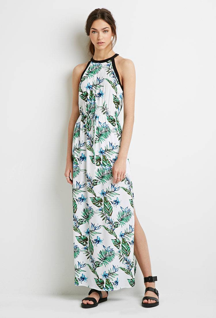 Lyst Forever 21 Tropical Print Maxi Dress Youve Been