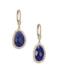 Meira t Sapphire, Diamond & 14k Yellow Gold Drop Earrings ...