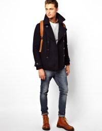 Pea Coat Men Slim Fit - Coat Racks