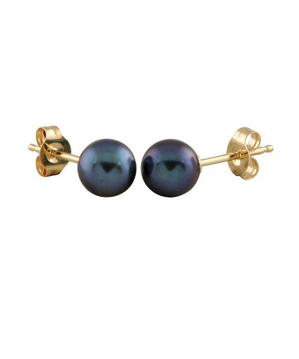 Splendid 3mm Round Stud Earrings in Metallic