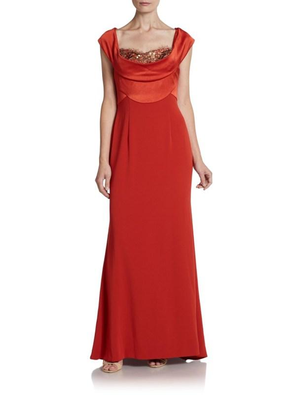 Escada Embellished Offtheshoulder Gown In Red Lyst