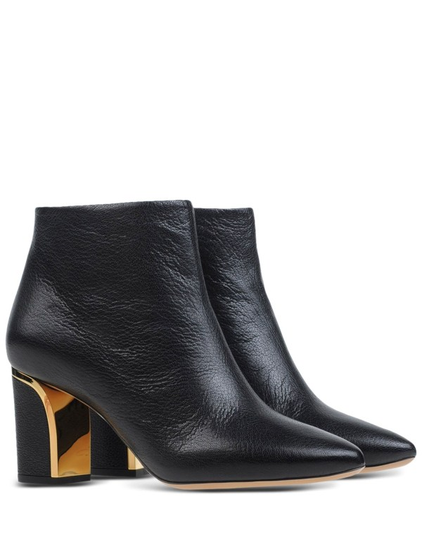 Chlo Goatskin Ankle Boots In Black Lyst