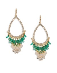 Abs by allen schwartz Beaded Chandelier Earrings in Green ...