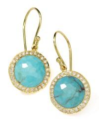 Ippolita Diamond Turquoise Lollipop Earrings in Gold | Lyst