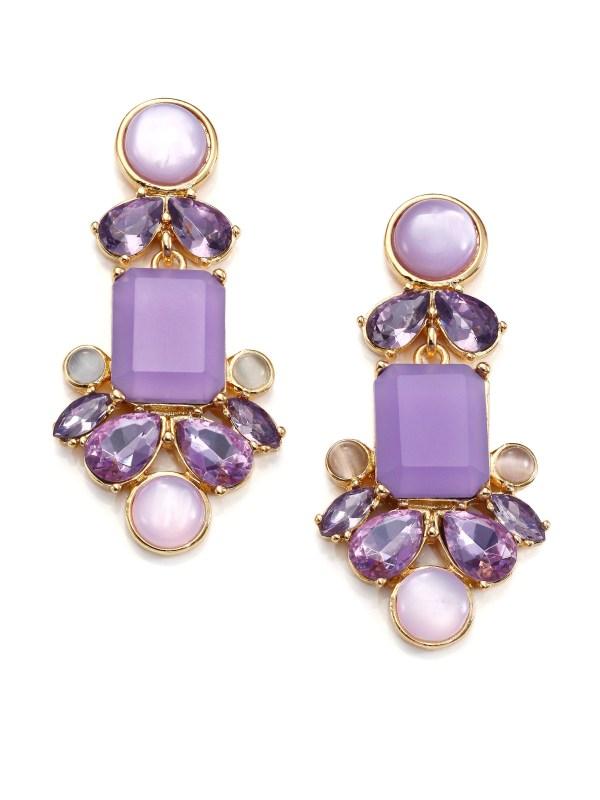 Kate Spade York Glitzy Spritz Statement Drop Earrings