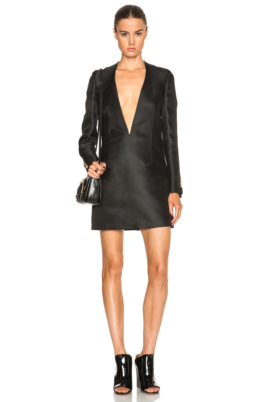 Lyst  Acne Studios Ryde Organza Suit Jacket Dress in Black